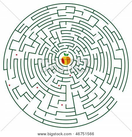 Round Maze With Apple (green).eps