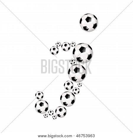 Soccer alphabet letter I
