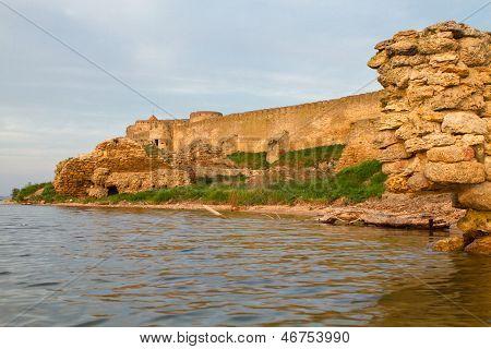 Old Fortress In  Bilhorod-dnistrovski Odessa Region