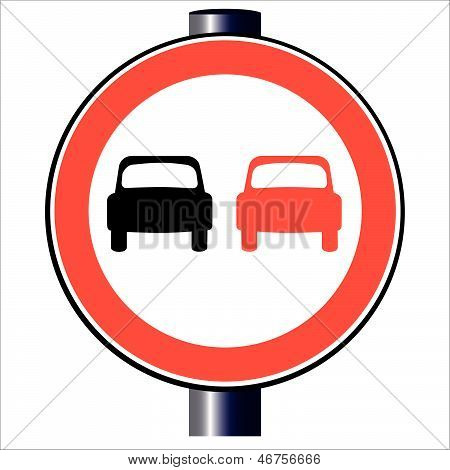 No Overtaking Traffic Sign