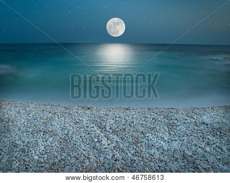Moonlight On The Pebble Beach