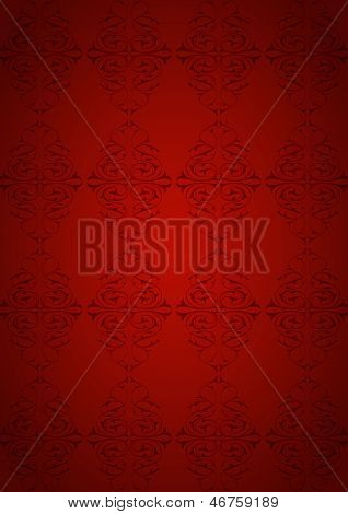 Ottoman Pattern and red background