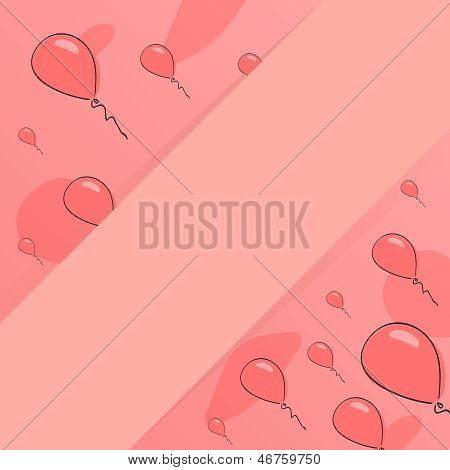 Red Background. Baloon