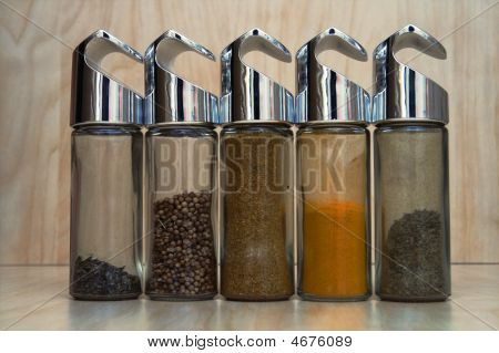 Bottles With Spices