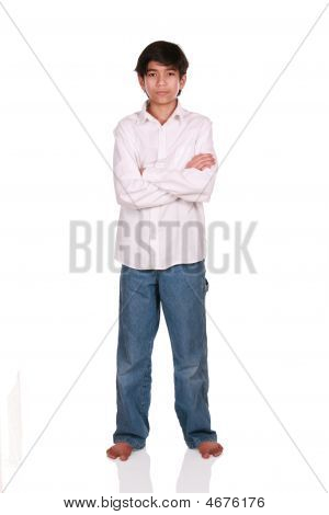 Twelve Year Old Boy Standing