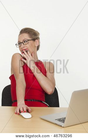 Sexy Young Assistant Trying To Impress Her Boss