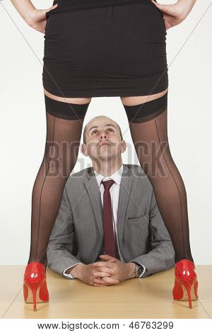Secretary Trying To Seduce Her Male Boss