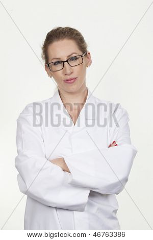 Beautiful Young Female Scientist