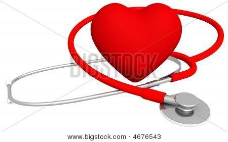 Herzen & stethoscope