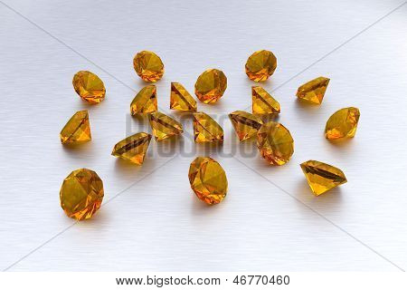 3D Citrine - 18 Gems