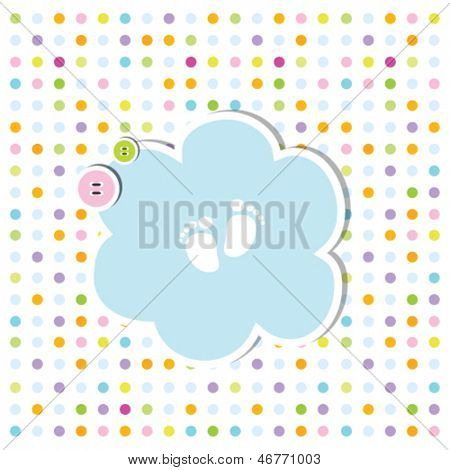 cute baby shower invitation card - baby arrival card with copy space Nice simple design for baby shower projects, birthday greeting