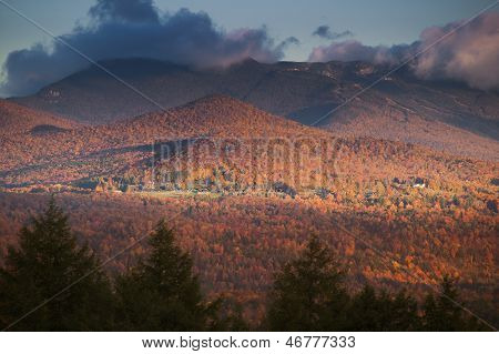 Fall Foliage With Mt. Mansfield In The Background.