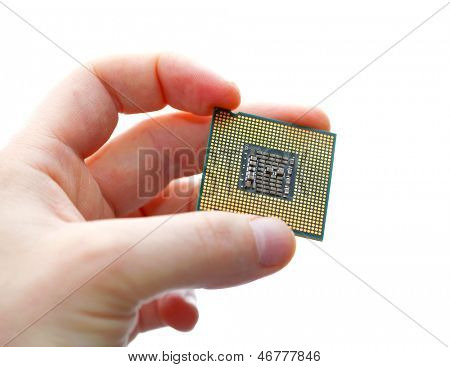 Holding a CPU in hand