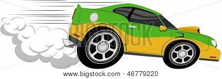 Going Fast Cartoon Fast Car Cartoon