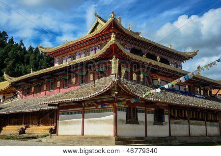 Tibetan temple in Shangri-La