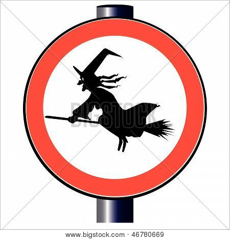 Witch Traffic Sign [converted].eps