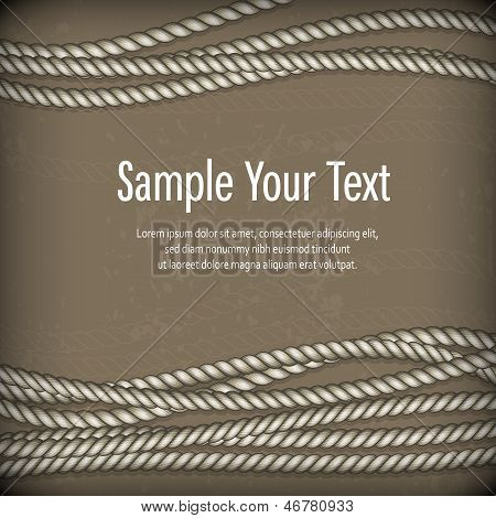 Set Of Ropes On Brown & Text