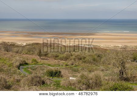 View On Omaha Beach - Nromandy, France.