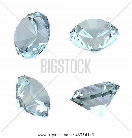 3D Diamonds - Isolated