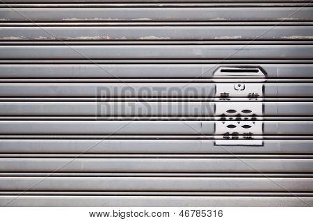 Stenciled residential mailbox, Hong Kong