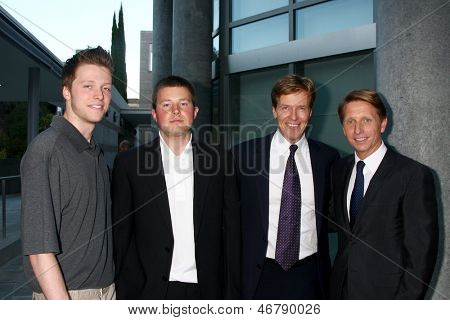 LOS ANGELES - JUN 15:  Harrison Wagner, Peter Wagner, Jack Wagner, Brad Bell attend The Leukemia & Lymphoma Society 2013  Gala at the Skirball Cultural Center on June 15, 2013 in Los Angeles, CA