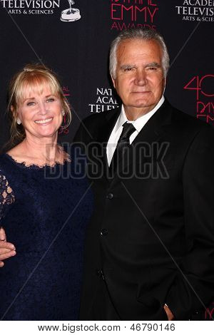 LOS ANGELES - JUN 14:  Laurette Sprang McCook, John McCook attends the 2013 Daytime Creative Emmys  at the Bonaventure Hotel on June 14, 2013 in Los Angeles, CA