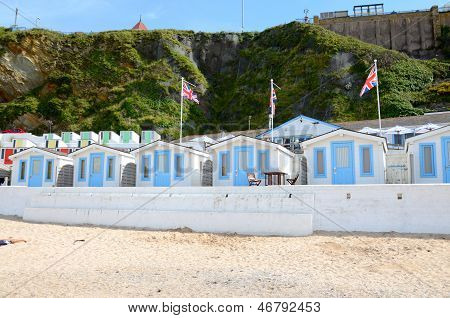 Beach huts, Tolcarne, Newquay