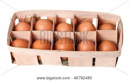 Brown Eggs In Eco Box