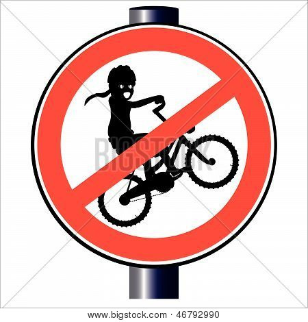 No Kids Traffic Sign