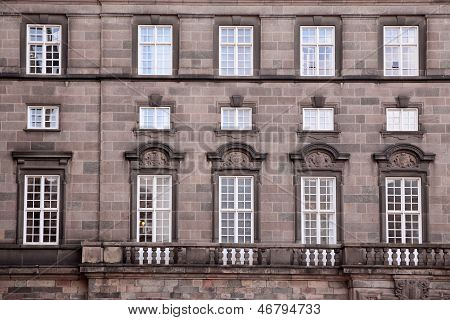 Facade Of Christiansborg Palace