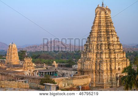 Virupaksha Temple in Hampi, Karnataka, India