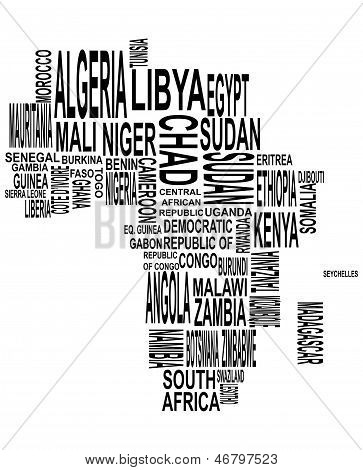 Africa Map With Country Name