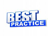 Best Practice Blue White Banner - Letters And Block