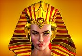 picture of crown jewels  - This is a romanticized portrait of the first female pharaoh of Egypt - JPG