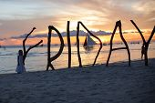 picture of boracay  - Silhouette word Friday made  - JPG