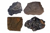 stock photo of shale  - Fossil fuels bituminous coal  - JPG