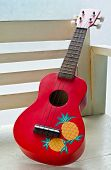 Red Ukulele Guitar