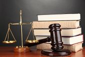 stock photo of magistrate  - Wooden gavel - JPG