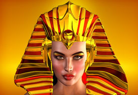picture of cleopatra  - This is a romanticized portrait of the first female pharaoh of Egypt - JPG