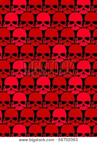 Lots Of Red Skulls.