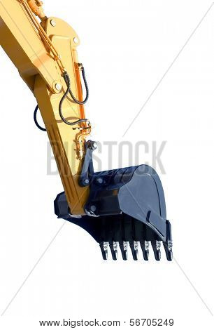 excavator bucket on white background ( isolated with  paths)