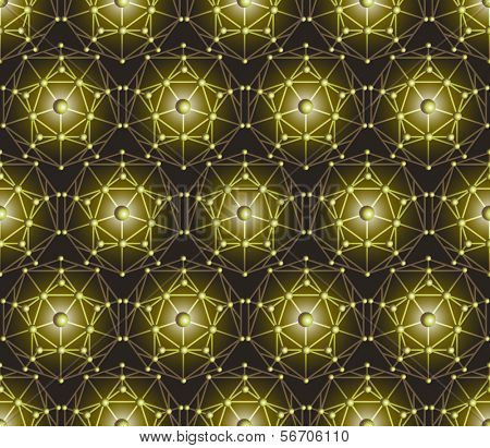 Seamless vector polygon pentagon background