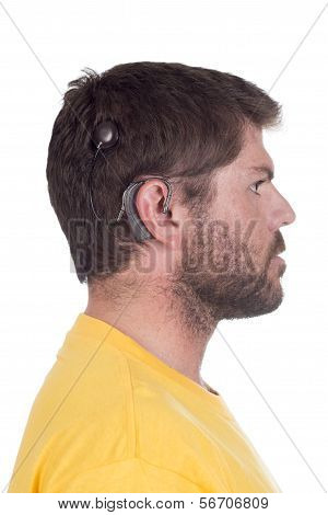 Young Man With Cochlear Implant