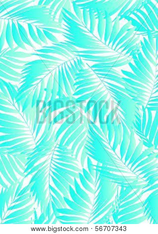 Tropical Aqua Leaf.
