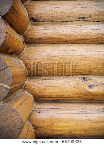 Log House Wall