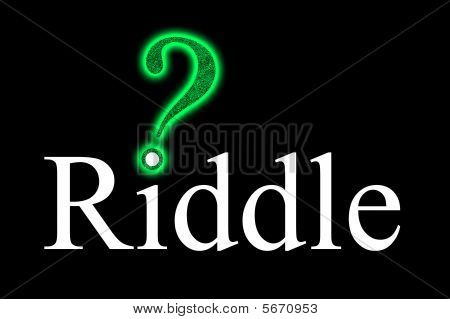 "Riddle With ""maze""-question Mark"