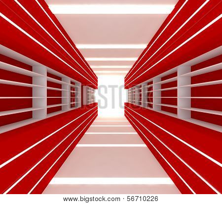 Red Room With Shelf
