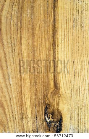 Knot on a wooden plank.  Pattern background.