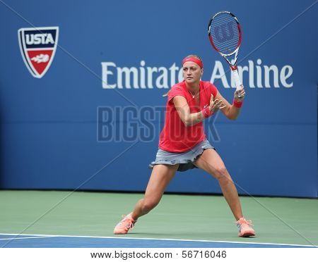 Grand Slam champion Petra Kvitova during first round match at US Open 2013 against Misaki Doi