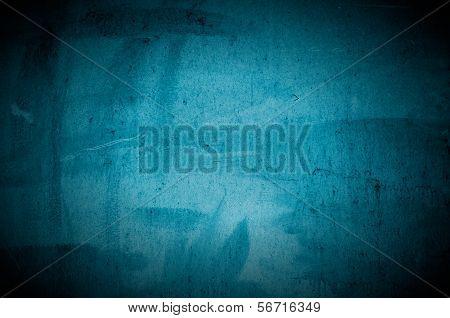 Old Dark Blue Concrete Wall